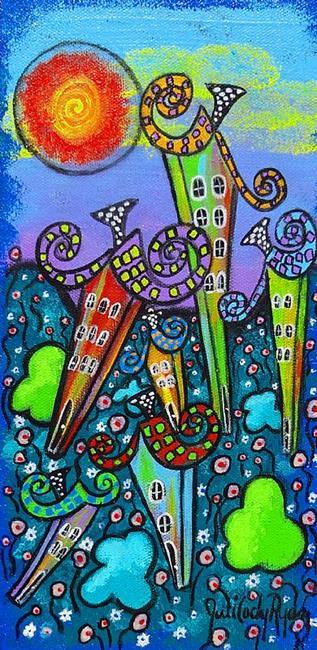 Art: Rainbow Cottages II by Artist Juli Cady Ryan