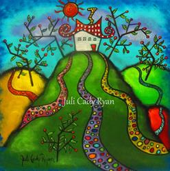 Art: All Roads Lead Home by Artist Juli Cady Ryan