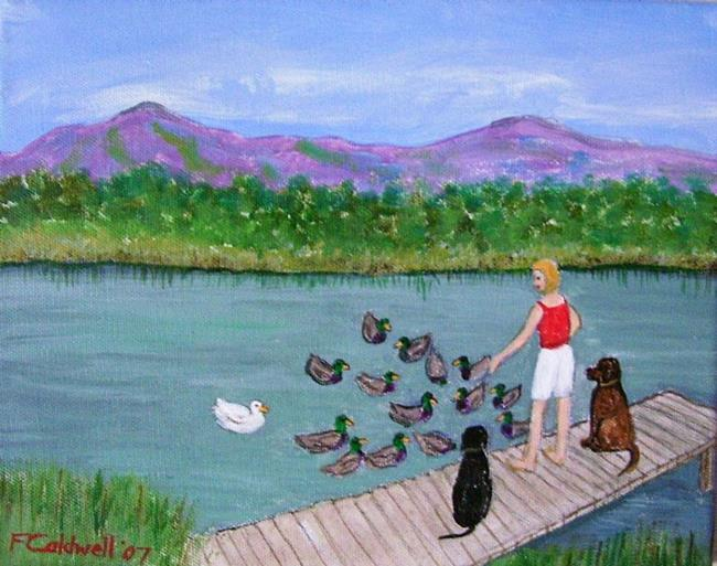 Art: Duck Dock (Commission) by Artist Fran Caldwell