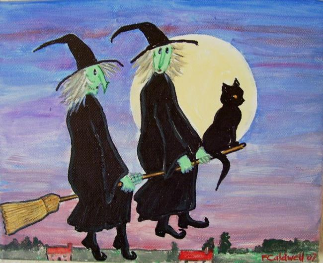 Art: Witch Hitching (SOLD) by Artist Fran Caldwell