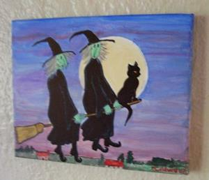 Detail Image for art Witch Hitching (SOLD)