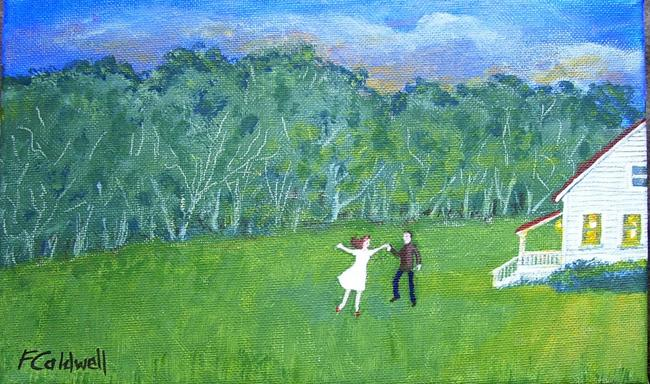 Art: For No Reason, They Began to Dance (Sold) by Artist Fran Caldwell