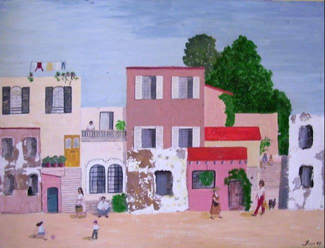 Art: The Village (Not for Sale) by Artist Fran Caldwell