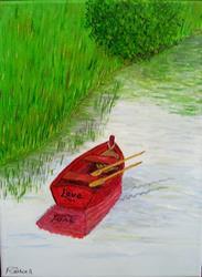 Art: Love Adrift (Sold) by Artist Fran Caldwell
