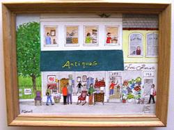 Art: Country Antique Store (Sold) by Artist Fran Caldwell