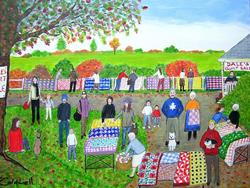 Art: Dale's Quilt Sale (Commission) by Artist Fran Caldwell