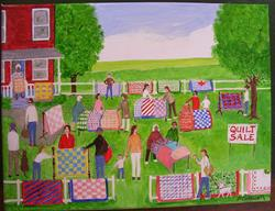 Art: The Quilt Sale III (Commission) by Artist Fran Caldwell