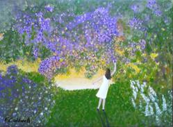 Art: Lilac Time by Artist Fran Caldwell