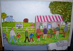 Art: Country Stall (SOLD) by Artist Fran Caldwell