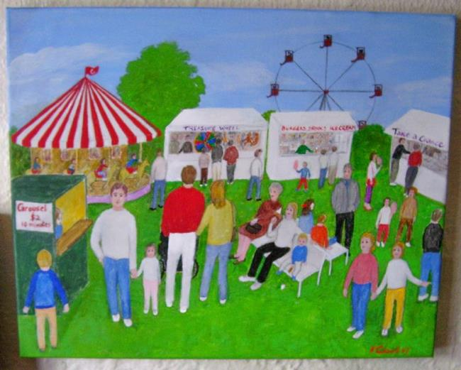 Art: The Fair (Sold) by Artist Fran Caldwell