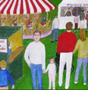 Detail Image for art The Fair (Sold)