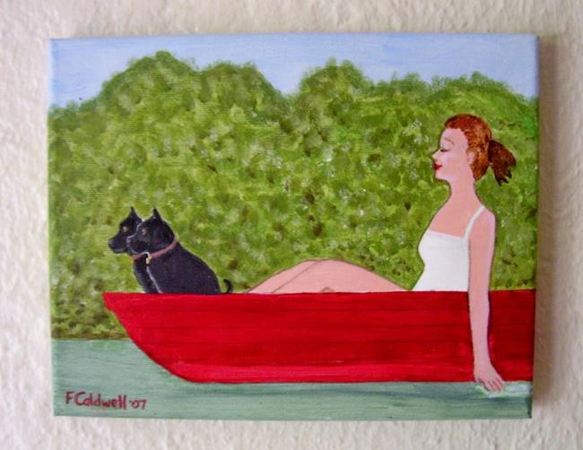 Art: Boating with Gail (Commission) by Artist Fran Caldwell