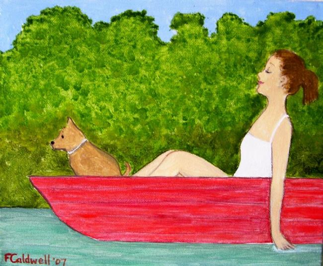 Art: Boating 2 (Sold) by Artist Fran Caldwell