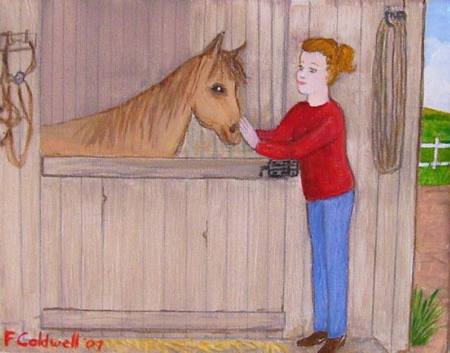 Art: The Stable (Sold) by Artist Fran Caldwell
