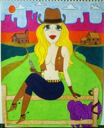 Art: New Sheriff in Town by Artist Jennifer Lee
