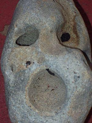 Art: Stone Skull (The Scream) by Artist Kathabela Wilson