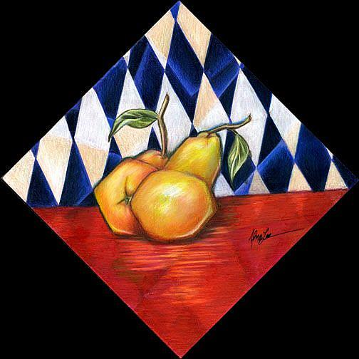 Art: The Cubic Pear by Artist Alma Lee