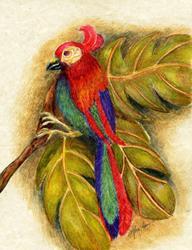 Art: Tropical Antiquity by Artist Alma Lee