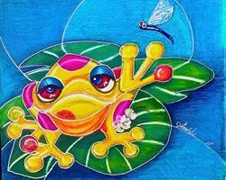 Art: Foggy Froggy by Artist Alma Lee