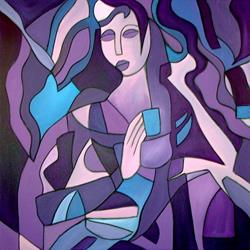 Art: Princess For a Day - Cubist 15 by Artist Thomas C. Fedro