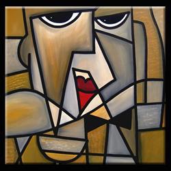 Art: Don't Mention It - Cubist 26 by Artist Thomas C. Fedro