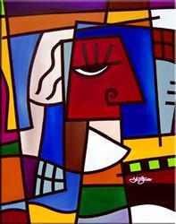 Art: Head Games - Cubist 18 by Artist Thomas C. Fedro