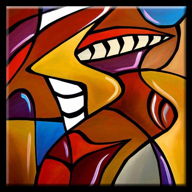 Art: Cubist-100-2424-Cage-Match-2.jpg by Artist Thomas C. Fedro