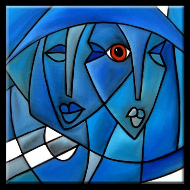 Art: Cubist-103-2424-Free-Energy-2.jpg by Artist Thomas C. Fedro