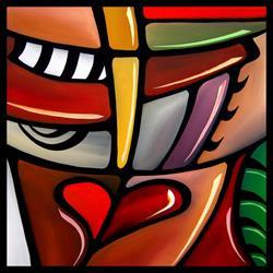 Art: Cubist 109 2020 Original Cubist Art Slipstream by Artist Thomas C. Fedro