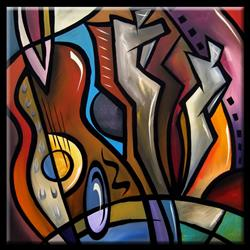 Art: Cubist 110 3030 Original Cubist Art Ovation by Artist Thomas C. Fedro