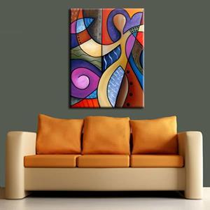 Detail Image for art Cubist 116 3040 Original Cubist Art Whats On Your Mind