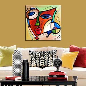 Detail Image for art Cubist 123 2424 W Original Cubist Art Just A Dream
