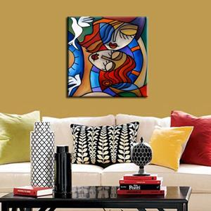 Detail Image for art Cubist 124 2424 W Original Cubist Art Fly With Me