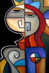 Art: Cubist 126 2436 Original Cubist Art Royal Pains by Artist Thomas C. Fedro