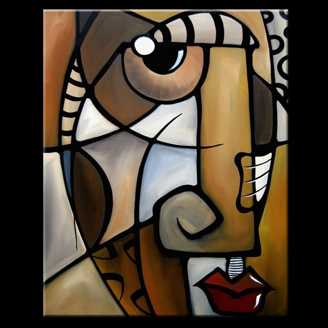 Art: Cubist 137 2430 GW Original Cubist Art Stylized by Artist Thomas C. Fedro