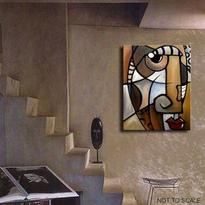 Detail Image for art Cubist 137 2430 GW Original Cubist Art Stylized