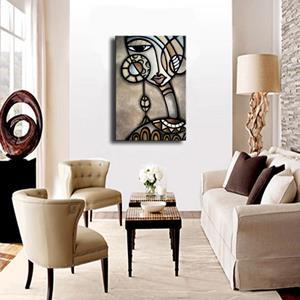 Detail Image for art Cubist 139 2436 GW Original Cubist Art Identity Crisis