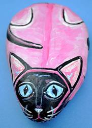 Art: Rock Cat Pinky Siamese by Artist Melinda Dalke