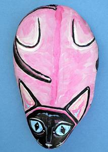 Detail Image for art Rock Cat Pinky Siamese