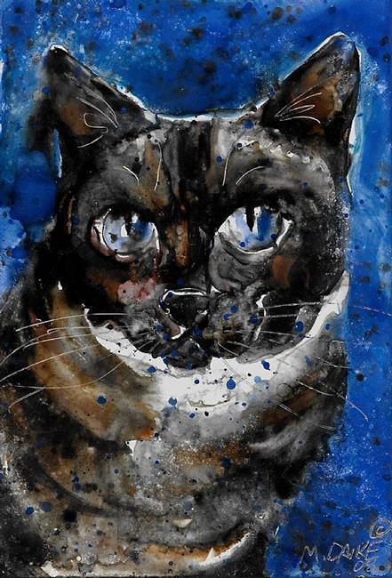Art: Blue Siamese by Artist Melinda Dalke
