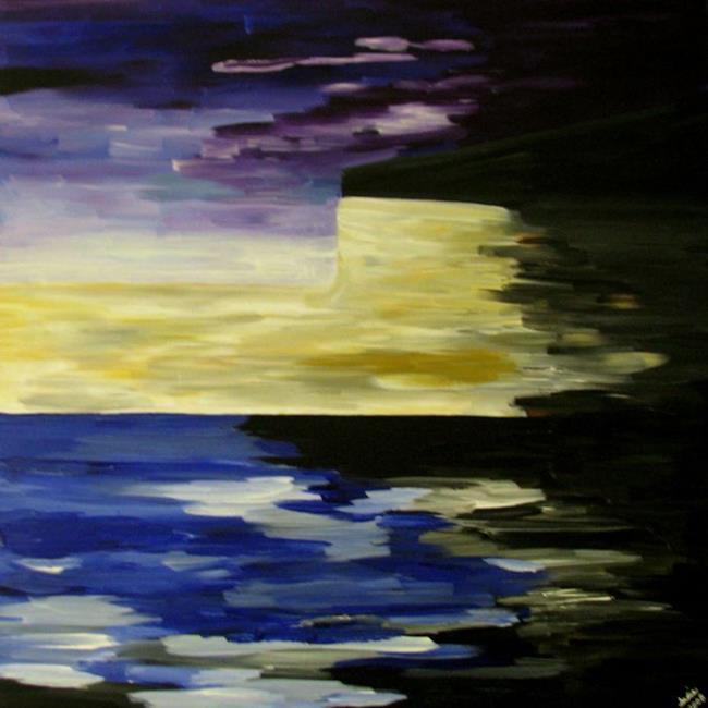 Art: Evening Oasis by Artist Indiamoss