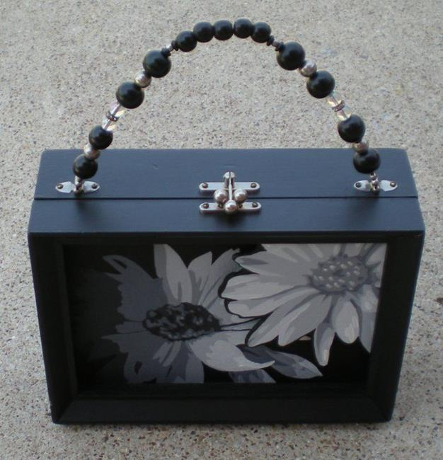 Art: Twilight Daisies Purse by Artist Kris Jean