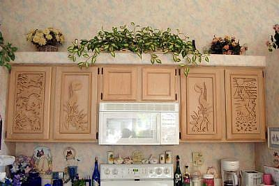 custom made kitchen cabinet door plaques by gina stern from custom