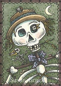 Art: SCARY SCARECROW by Artist Susan Brack