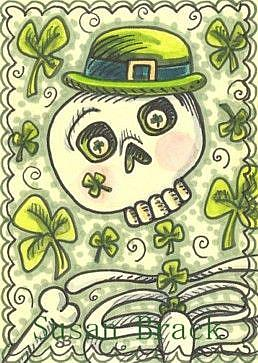 Art: DAY OF THE DEAD IRISH by Artist Susan Brack