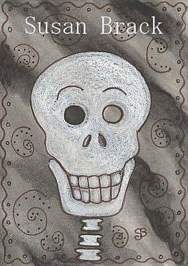 Art: SMILES ARE FREE SKELLY by Artist Susan Brack