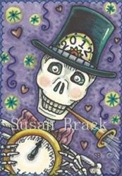 Art: TOOT YOUR HORN AND RATTLE YOUR BONES by Artist Susan Brack