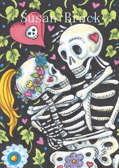 Art: LOVERS AMONG THE IVY by Artist Susan Brack