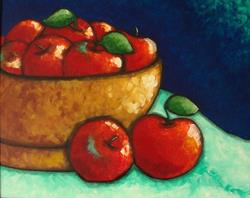 Art: APPLES BODEGON by Artist Cyra R. Cancel