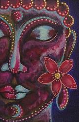Art: BUDDHA 2 PAINTING COMM. 4 X 6 by Artist Cyra R. Cancel